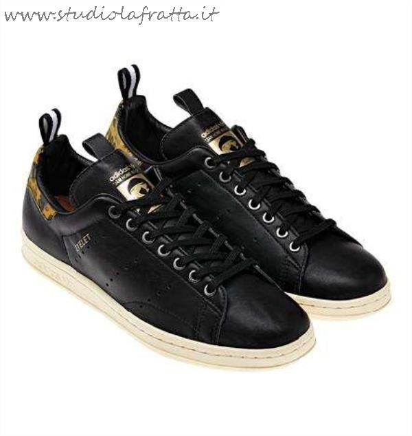 Adidas Stan Smith Nere E Oro