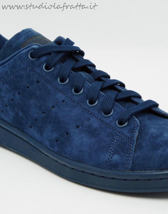 Adidas Stan Smith Nere Camoscio
