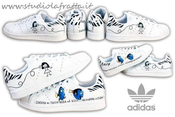 scarpe adidas disegnate